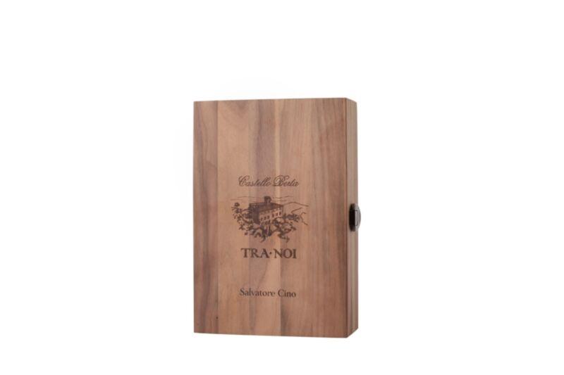 Boîte en bois personnalisée Berta avec Grappa Brunello